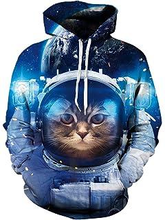 Leapparel Unisex 3D Druck Hooded Kapuzenpullover Langarm Casual Sweatshirt  für Herren und Damen S-4XL 1216ec608d