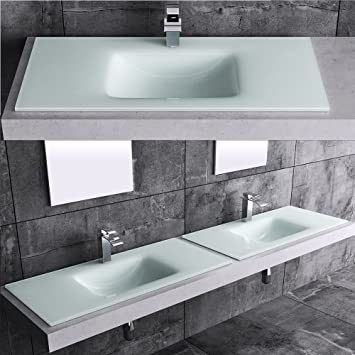 Sehr Gut BTH: 100x46x12 cm Design Glaswaschbecken Venezium37-1000, aus Glas  TS72
