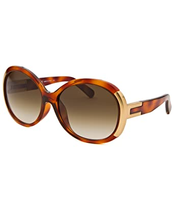 eabe750bc77 Amazon.com  Chloe Sunglasses 656SA 214 Light Havana   Gold Brown ...