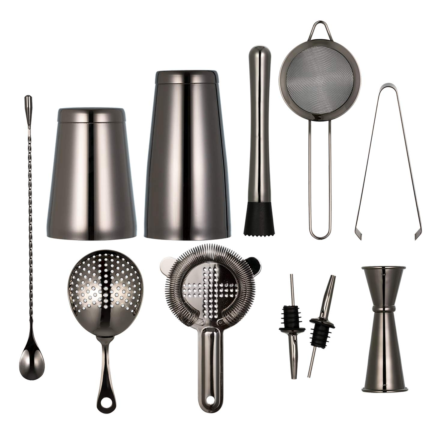 Amazon 11 piece Black Cocktail Shaker Bar Set 2 Weighted