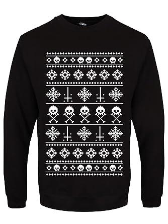 Anti-Weihnachten Männer Pullover schwarz: Amazon.de: Bekleidung