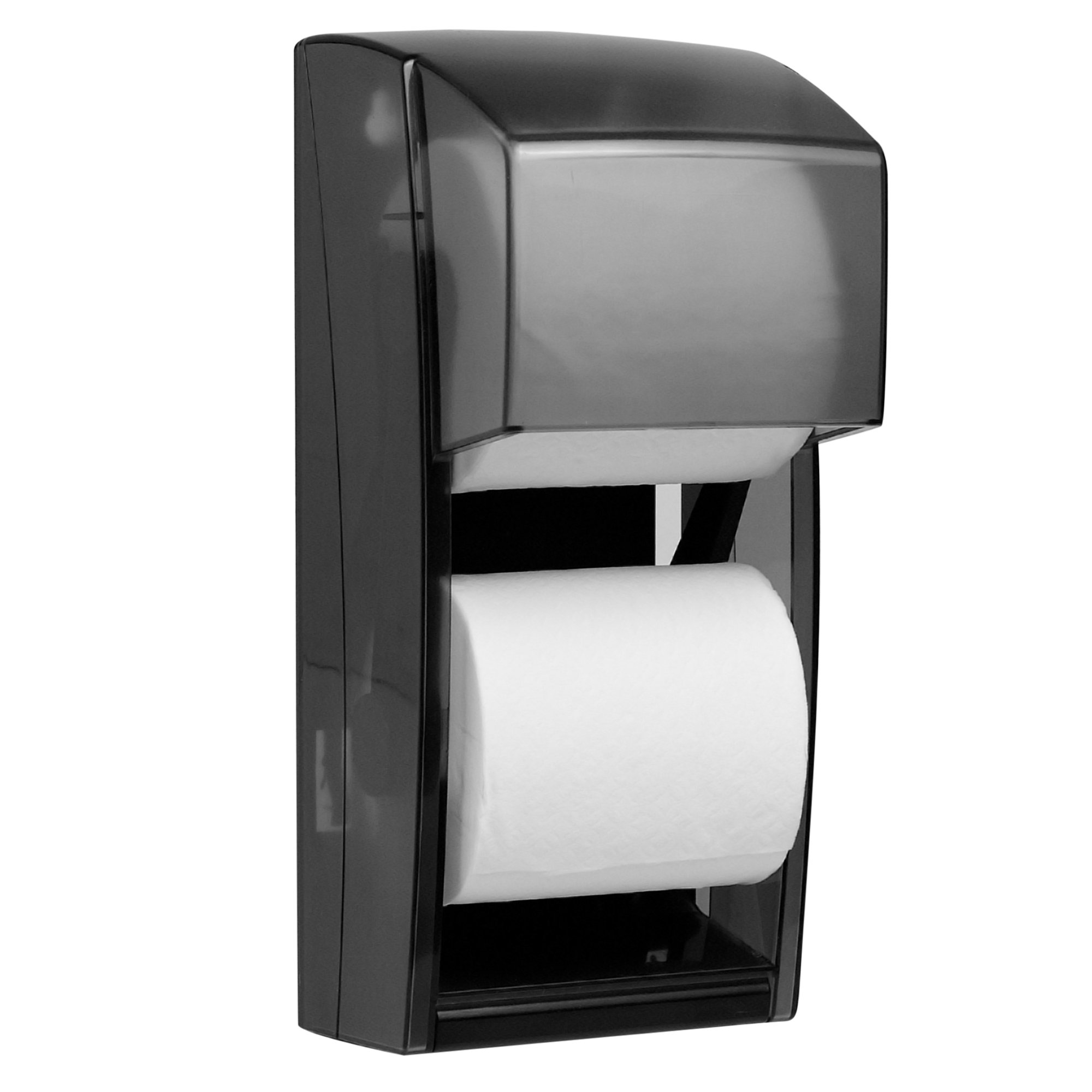 Kimberly Clark Professional Double Roll Toilet Paper Dispenser (09021), Cored or Coreless Standard Roll Compatible, Smoke (Black) by Kimberly-Clark Professional (Image #5)
