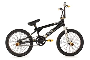 KS Cycling Vélo BMX Freestyle Boost, Mixte, Fahrrad BMX Freestyle Boost,  noir/