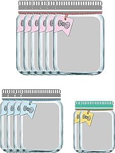Enkrio 12 Pack Reusable Zipper Snack Bags, Mason Jar Food Storage Snack Sandwich Ziplock Storage Bags for Kitchen Camping Picnic Organizer Children (6Large, 4Medium, 2Small)