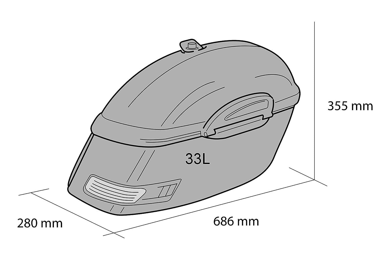 Paar 06-16 je 33L+ Haltesatz Yamaha XV1900 Midnight Star Customacces AZ0472N Seitenkoffer Touring VP23