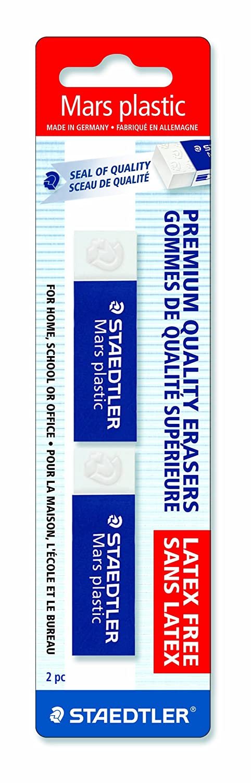 52650BK2 2 Each Staedtler Mars Plastic Eraser