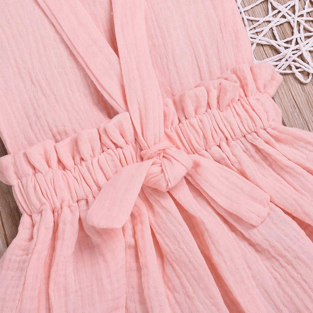 Toddler Kids Baby Girls Backless Skirt Dress Elegant Princess Dresses Summer 1-5 Years