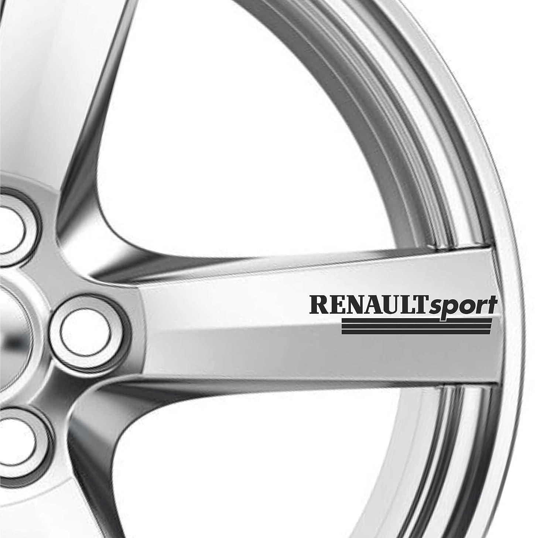 Lot de 6autocollants de roue Renault Sport en alliage de qualité supérieure pour Megane