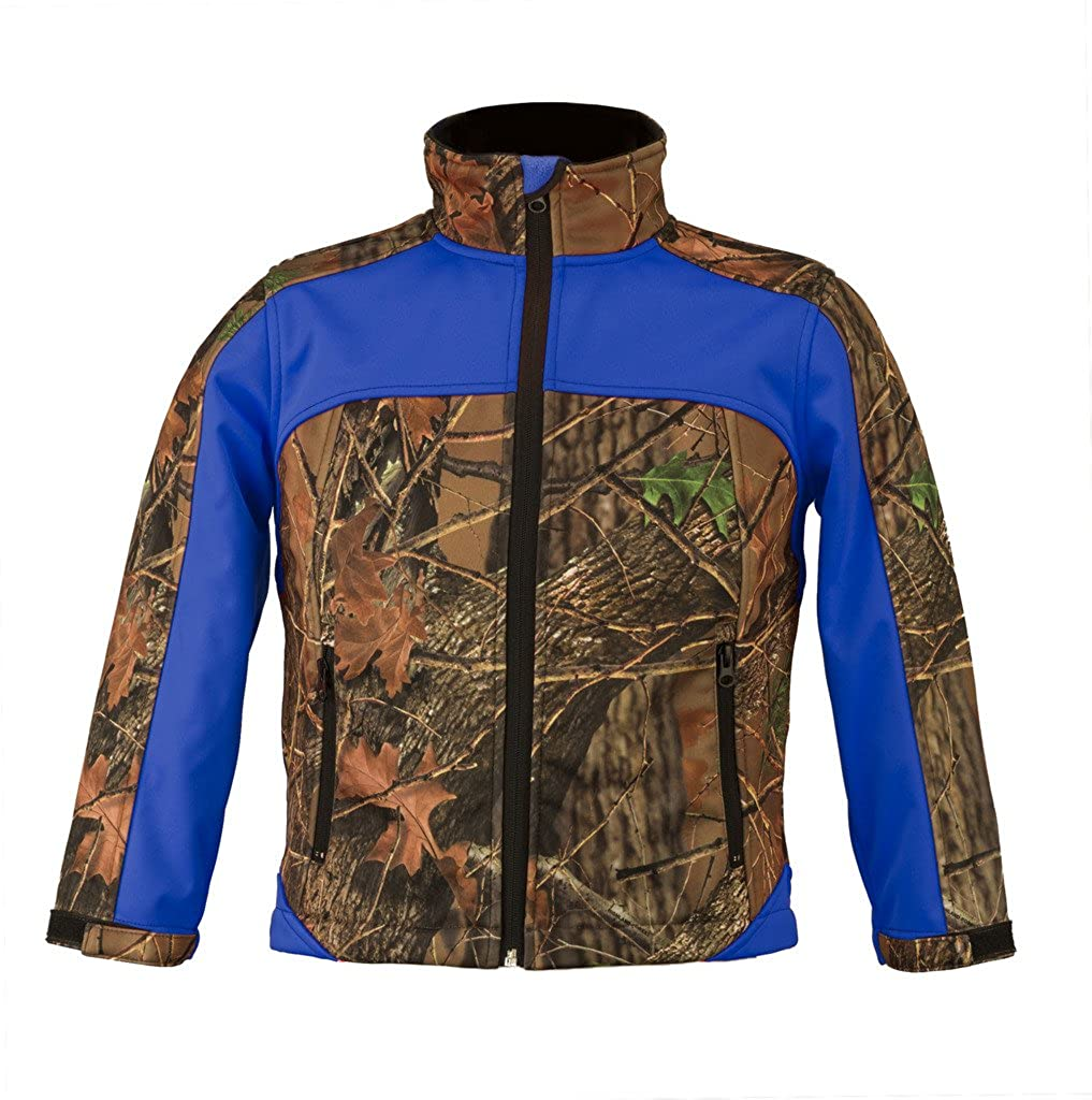 TrailCrest Kid's Camo & Neon Colors Custom Soft Shell Waterproof Jacket