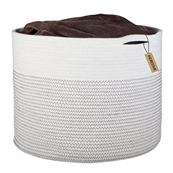 INDRESSME Extra Large Storage Baskets Cotton Rope Basket Woven Baby Laundry Basket with Handle for Diaper  sc 1 st  Amazon.com & Amazon.com : INDRESSME Extra Large Storage Baskets Cotton Rope ...