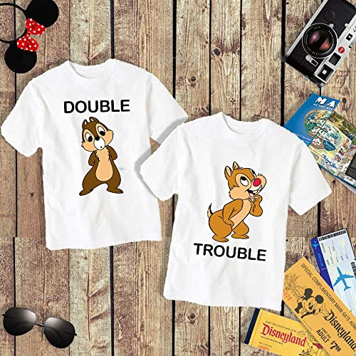 Amazon Double Trouble Chip And Dale Adult Kid Shirt Matching
