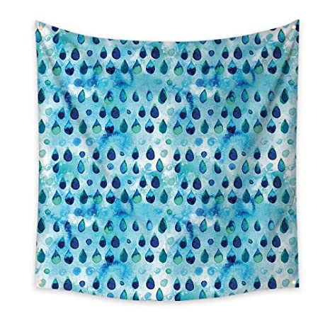 Amazon.com: Navy and Teal Bedroom Tapestry Abstract Blue ...