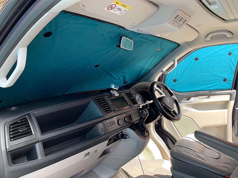 Set Completo 1990-2003 Tendine Parasole Termiche Per Interni Double-Face Per Volkswagen T4 Ritaglio Ideale Per Tutte Le Stagioni.