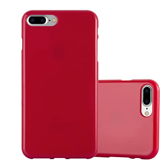 low priced ace2e a3d14 Cadorabo Case Works with Apple iPhone 8 Plus/iPhone 7 Plus/iPhone 7S Plus  in Jelly RED – Shockproof and Scratch Resistant TPU Silicone Cover – ...