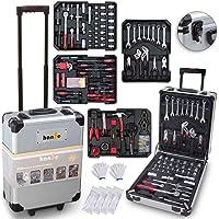 hanSe® Verktygslåda Maxi 1050 delar verktyg vagn fylld verktygslåda gör-det-själv verktygslåda verktygslåda