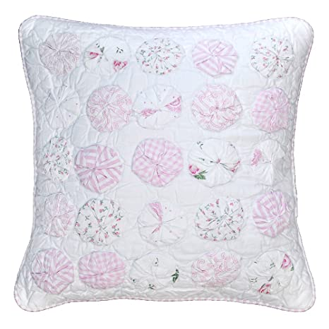 Amazon.com: be-you-tiful home Pom almohada, rosa: Home & Kitchen
