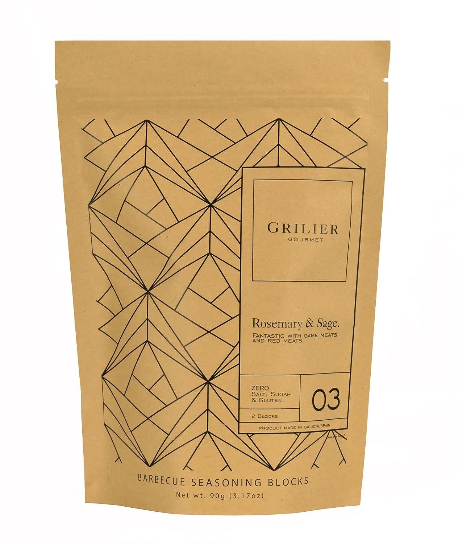 ¡NOVEDAD! Briqueta saborizante para barbacoa - ROMERO SALVIA - Grilier Gourmet (2uds.): Amazon.es: Alimentación y bebidas