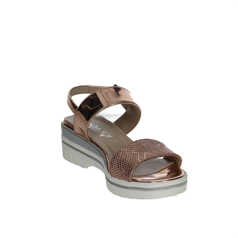 Cinzia Soft Scarpe Donna Sandali in Pelle Bronzo 621877  Amazon.co . 7e6ba304161