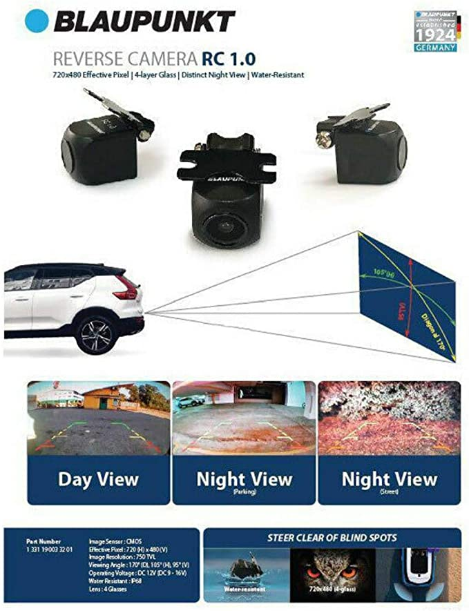 ...BRAND NEW.... XCTM380 Blaupunkt Rearview Car Backup Camera with Night Vision