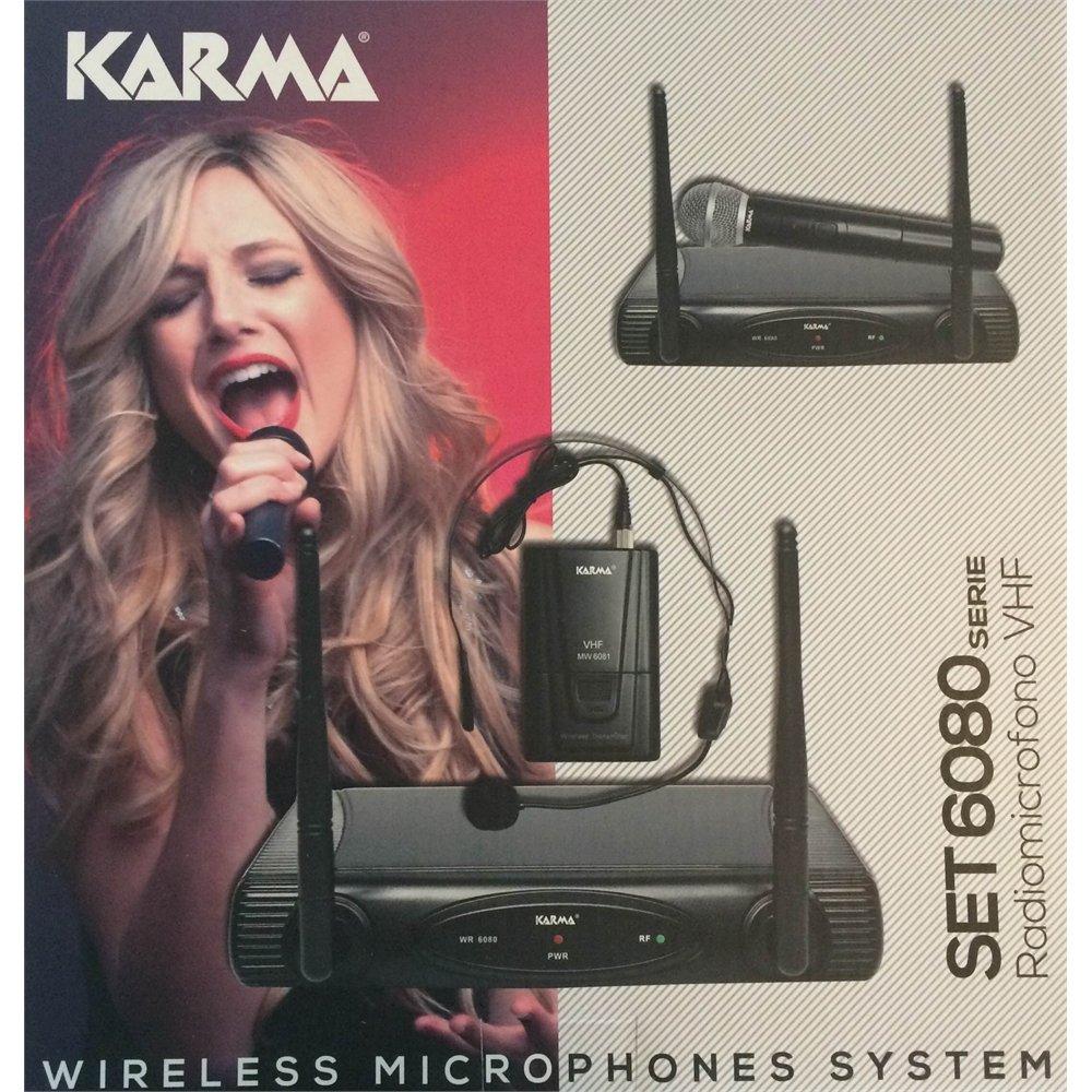 Karma SET 6080LAV Radiomicrofono Vhf ad Archetto, Nero SET6080LAV