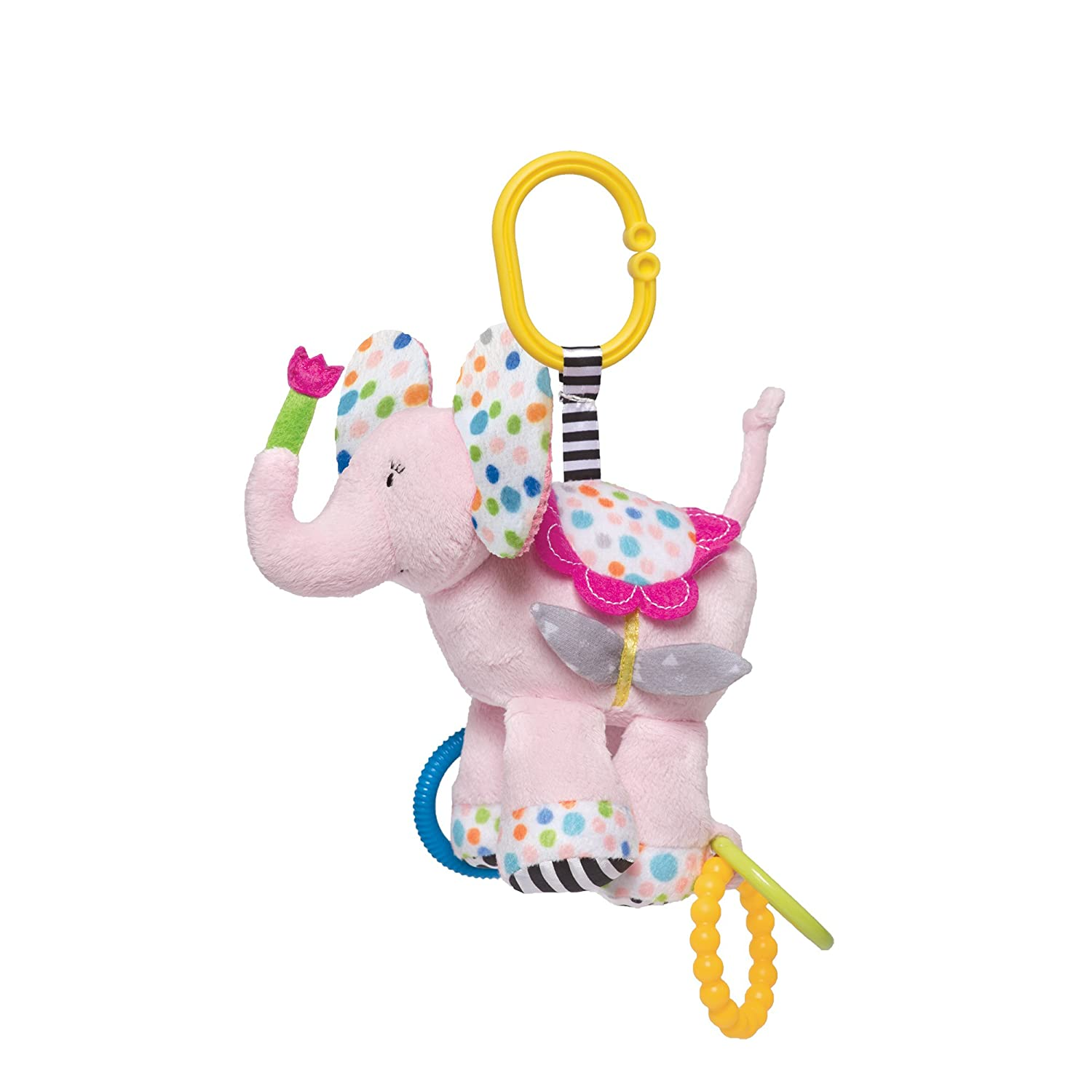 Manhattan Toy Blossoms Elephant Rattle /& Teether 700430