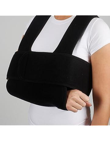 armoline cabestrillo para brazo Sling y franja Tejido transpirable para  adultos negro roto brazo de compresión 201c42c6d7c7