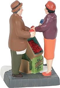 Department 56 Christmas in The City Village Accessories Apple Vendor Figurine, 2.75 Inch, Multicolor
