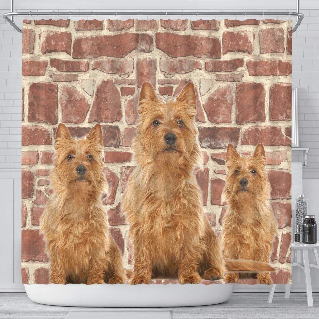 E & E Solution Australian Terrier Print Shower Curtains by E & E Solution