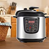KUPPET 6-IN-1 Multipot -6 QT Multi-Use Electric Pressure Cooker-Pressure Cooker,Rice Cooker, Slow Cooker, Steamer, Saute, Warmer-Suit For 4-6 People-Stainless Steel-1000W