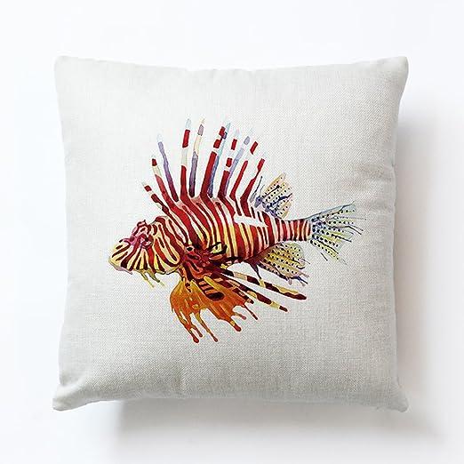 Almohada Fundas De Almohada pescado impresión decorativa ...