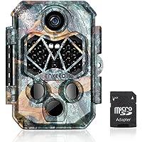 """ENKEEO 20MP Caméra de Chasse 1080P HD Caméra de Sentier Trail 2.4"""" LCD Étanche IP66 avec 45 LEDs IR Vision Nocturne Infrarouge et Une Carte Mémoire Micro SD DE 32 Go"""