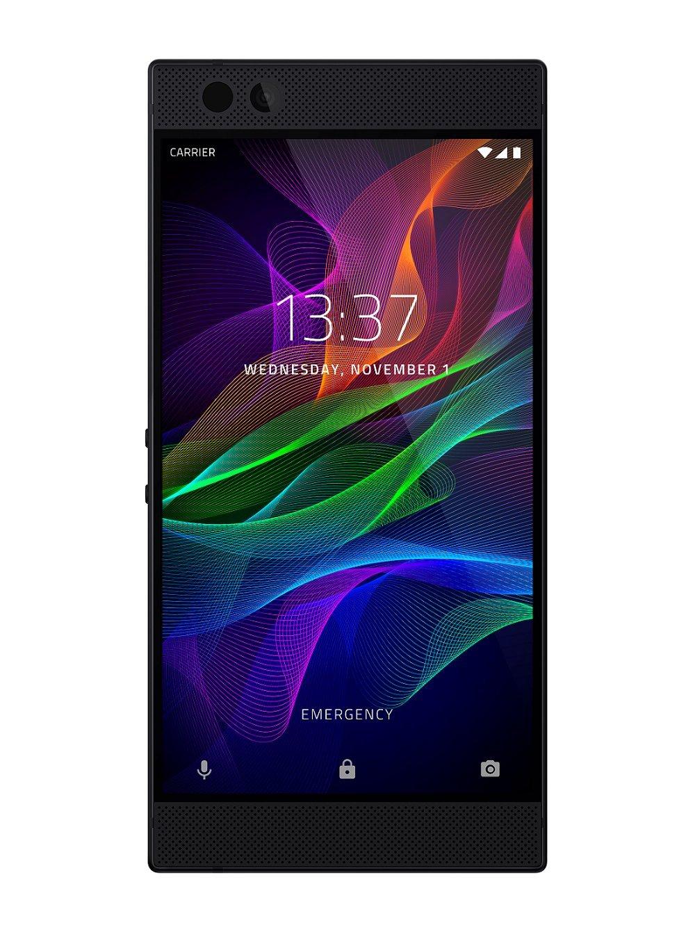 Razer Phone - Smartphone con Pantalla UltraMotion de 120 Hz (64 GB expandible, tecnología Dolby Atmos, 4G y batería con 4000 mAh)