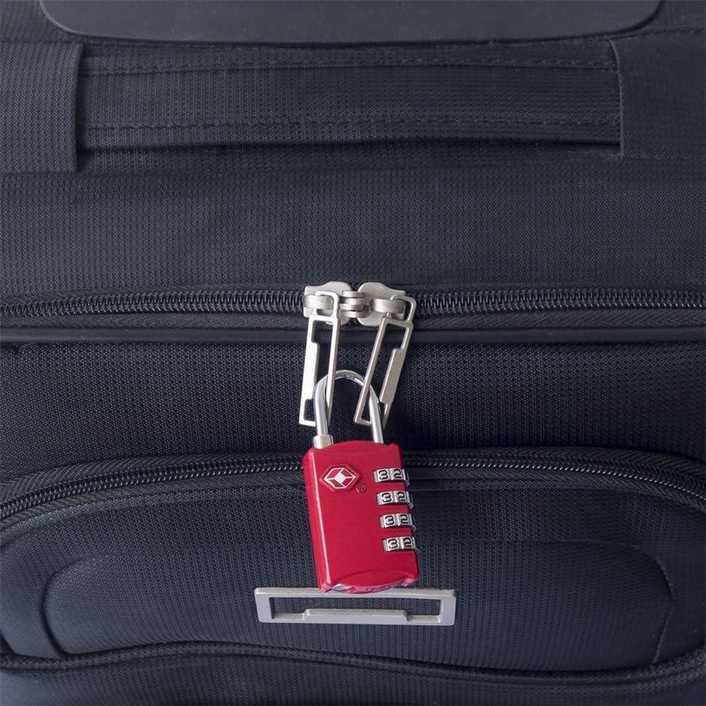 NYKKOLA TSA Approved Luggage Travel Lock 4-Dial Combination Cable Code Locks Security Padlock Black
