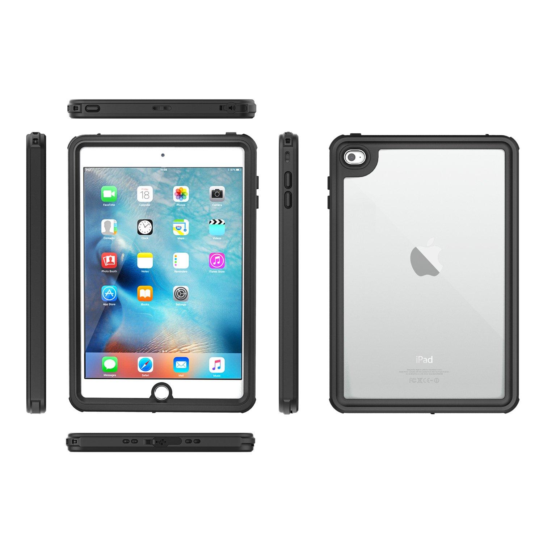Custodia Impermeabile Cover Completa con Protezione Schermo Incorporata Ultra Protettiva Antiurti per iPad Mini 4 7.9 2015 Nero MoKo Case per iPad Mini 4