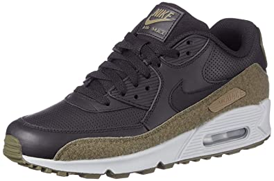 more photos 97af0 9a515 Nike Air Max 90 Hal Premium Leather Running Shoe, Black Black-Medium Olive