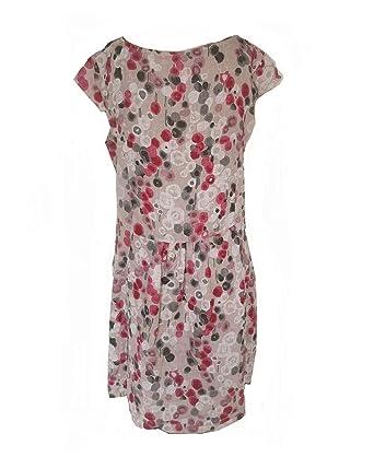 Moda Italy Bedrucktes Leinenkleid Sommerkleid Tunika Kleid