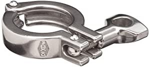 "Dixon 13MHHM200 Stainless Steel 304 Single Pin Heavy Duty Clamp with Cross Hole Wing Nut, 2"" Tube OD"