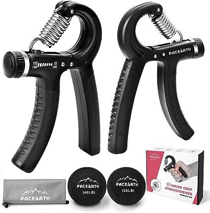 Hand Grip Strengthener Workout 4 Pack Adjustable Resistance Hand Strengthener,