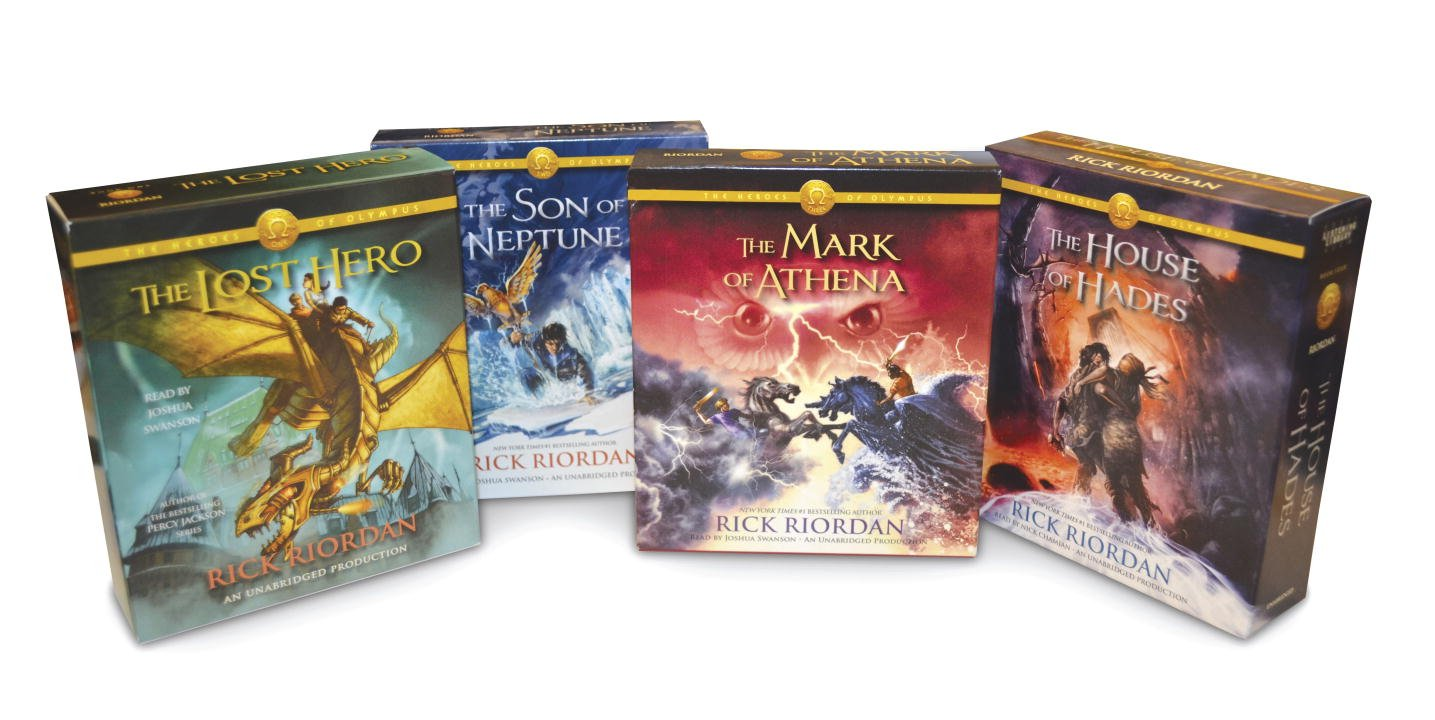 The Heroes of Olympus Books 1-4 CD Audiobook Bundle: Book One: The Lost Hero; Book Two: The Son of Neptune; Book Three: The Mark of Athena; Book Four: The House of Hades