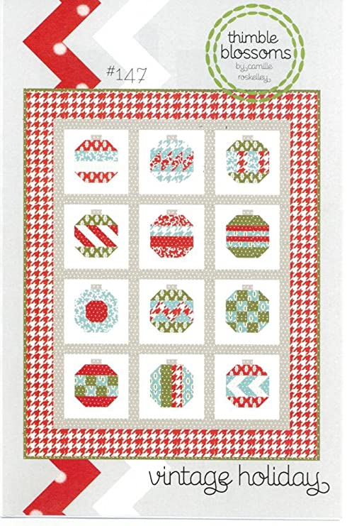 Christmas Quilt.Vintage Holiday Christmas Quilt Pattern 54 Inch By 68 Inch Finished Size