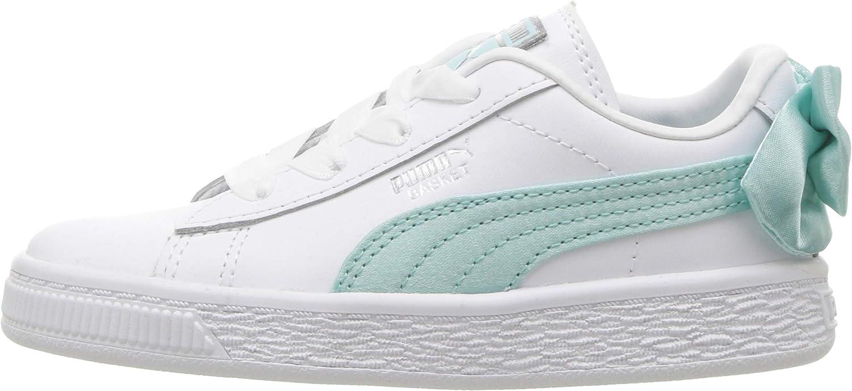 PUMA Kids Basket Bow Slip On Sneaker