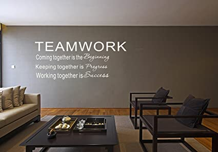 Amazon.com: LUCKKYY Large Teamwork Definition Office Vinyl Wall ...