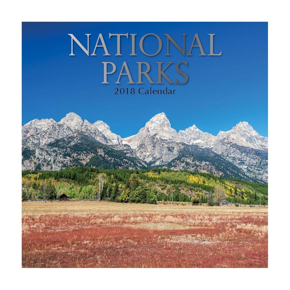 2018 National Parks Calendar - 12 x 12 Wall Calendar - With 210 Calendar Stickers