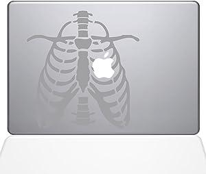 The Decal Guru Ribcage Apple Heart MacBook Decal Vinyl Sticker - 13