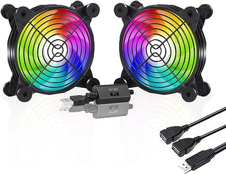 upHere U1207P-2 Ventilador USB (Control de Velocidad múltiple, LED ...