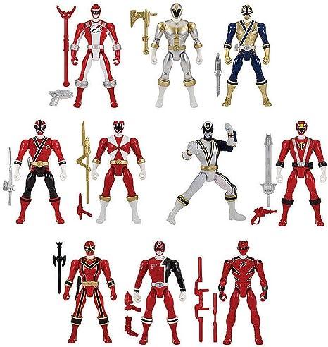NEW Power Rangers Mega Collection Legendary Ranger Power Pack Action Figure Set