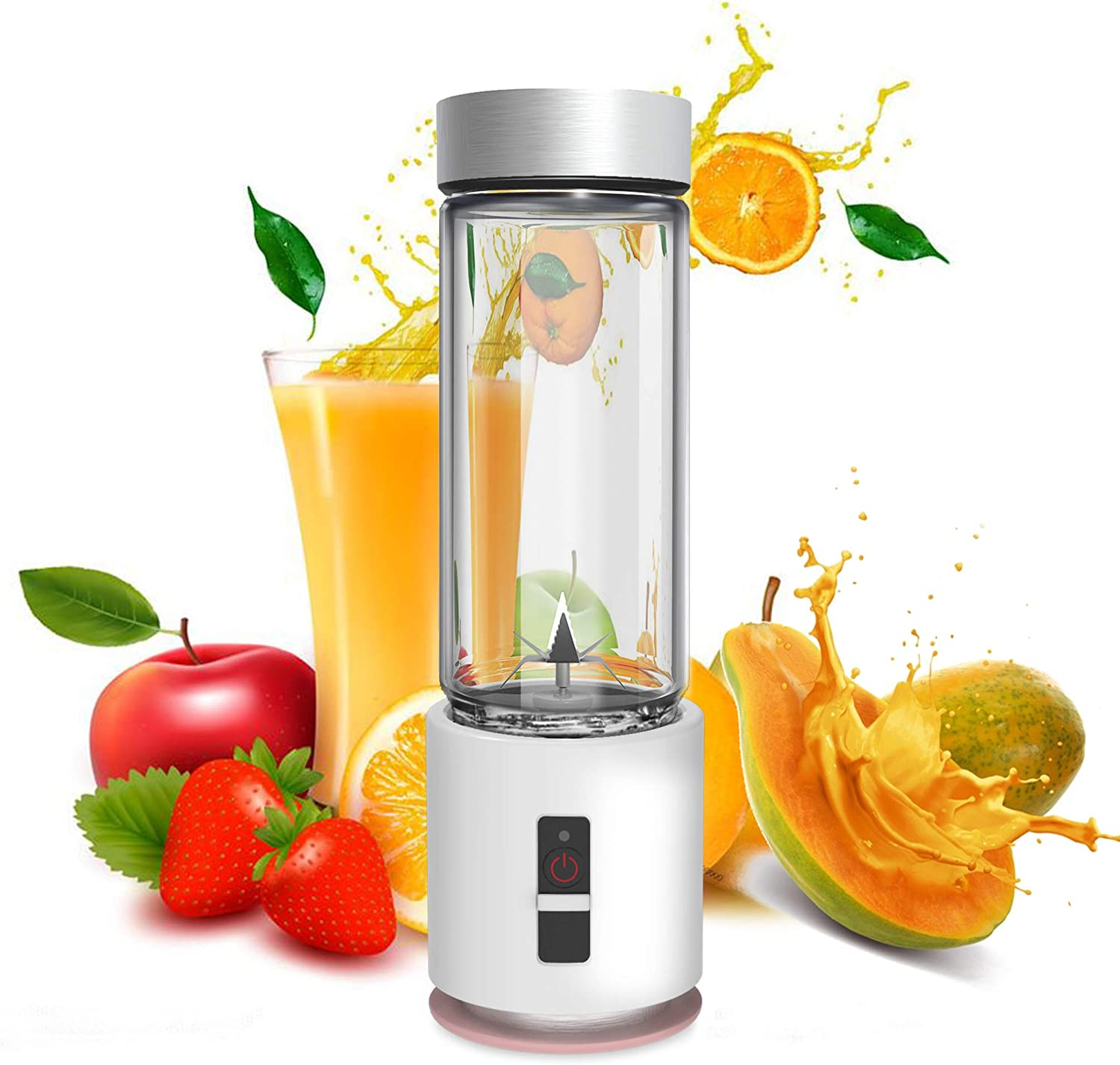 Personal Portable Blender, ENLOY Smoothie Mini Blender Portable with Updated 6 Blades, Juicer Blender Cup for Shakes and Smoothies, 4000mAh with USB Rechargeable, 13 Oz (380 ml)