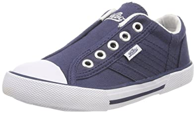 Lico Mädchen Conny Slip on Sneaker, Blau (Marine), 33 EU