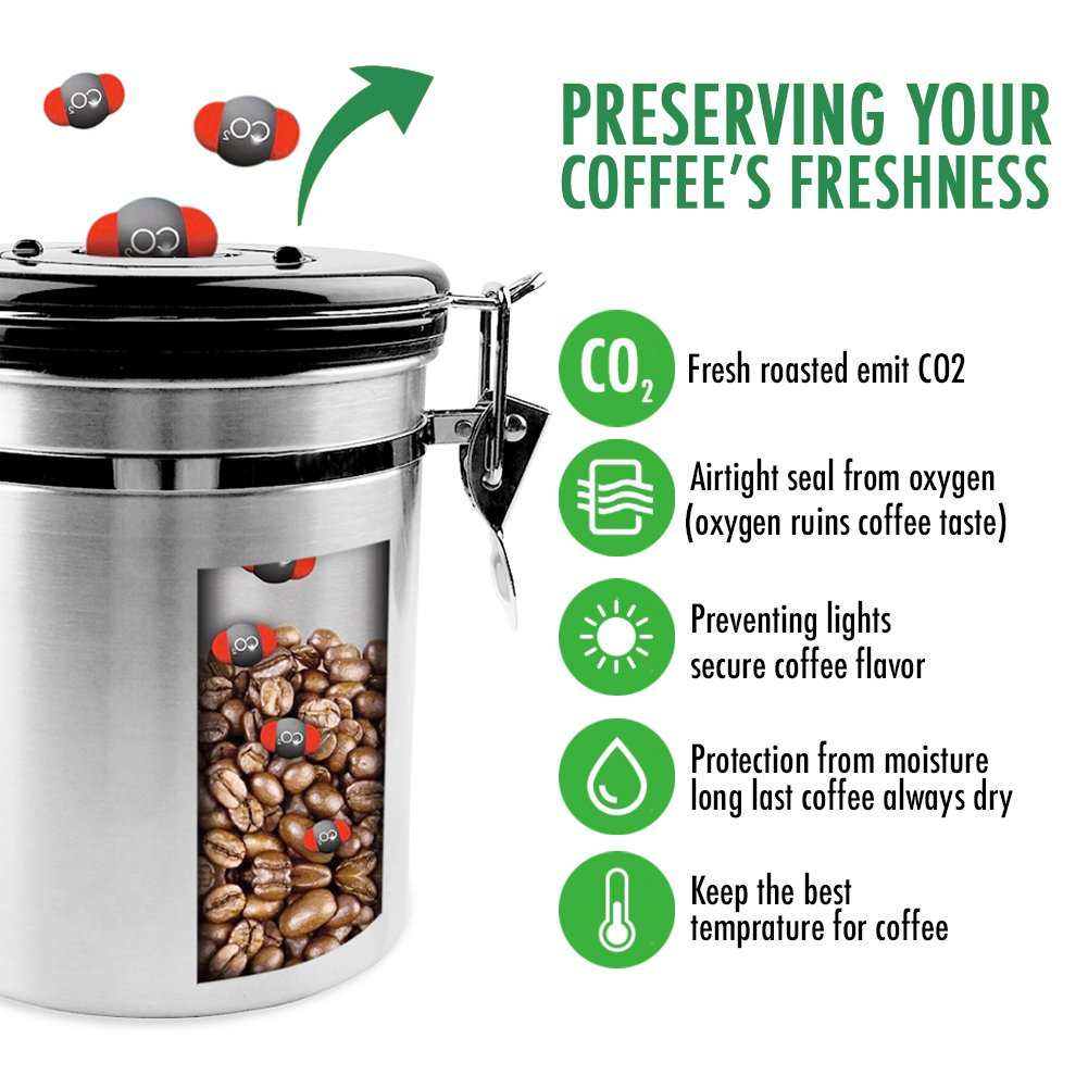 Amazon Fresh Coffee Canister