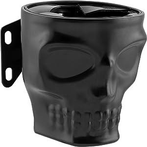 Kruzer Kaddy 1030 Flat Black Skull Switch Mount Kustom, 1 Pack